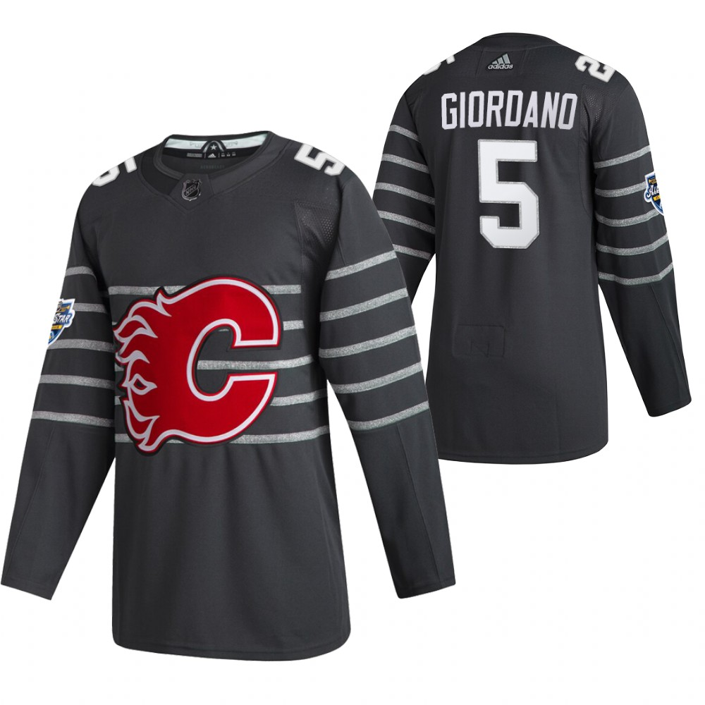 Flames 5 Mark Giordano Gray 2020 NHL All-Star Game Adidas Jersey