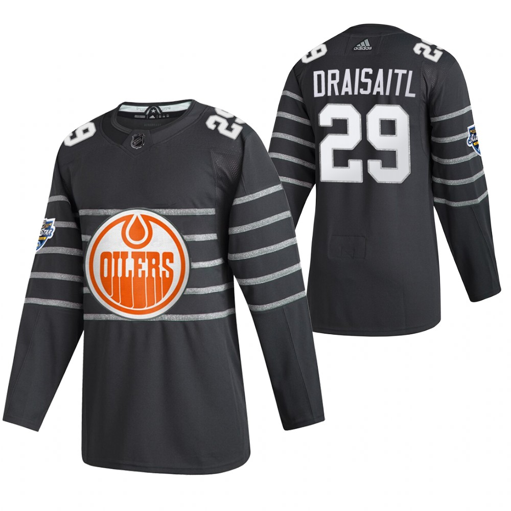 Oilers 29 Leon Draisaitl Gray 2020 NHL All-Star Game Adidas Jersey