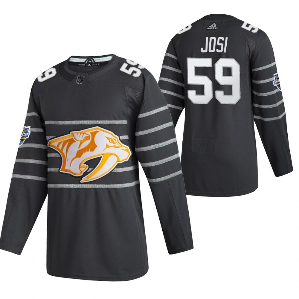 Predators 59 Roman Josi Gray 2020 NHL All-Star Game Adidas Jersey