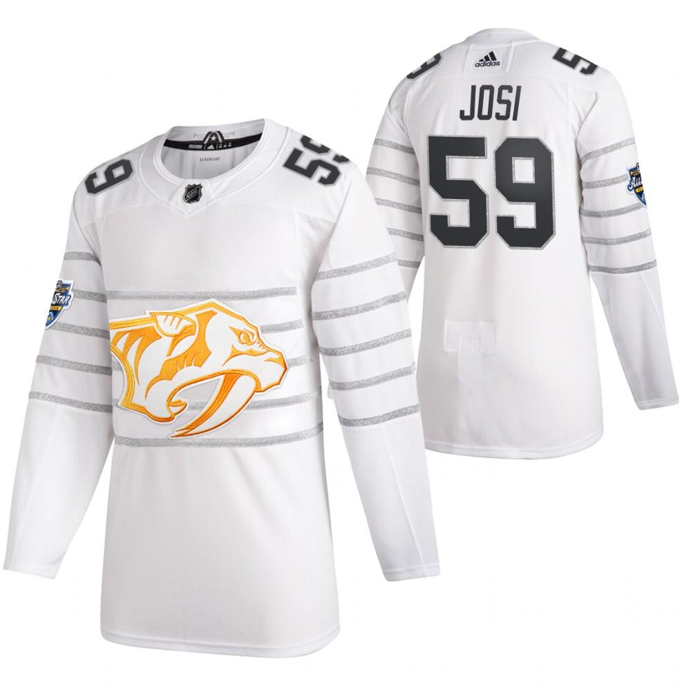 Predators 59 Roman Josi White 2020 NHL All-Star Game Adidas Jersey