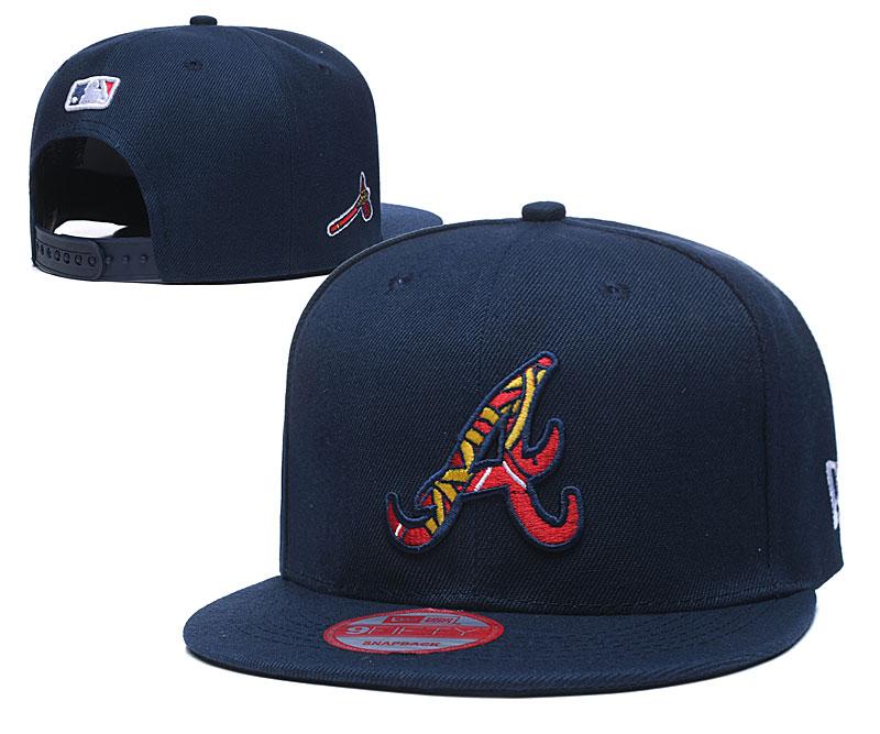Braves Team Logo Navy Adjustable Hat LT