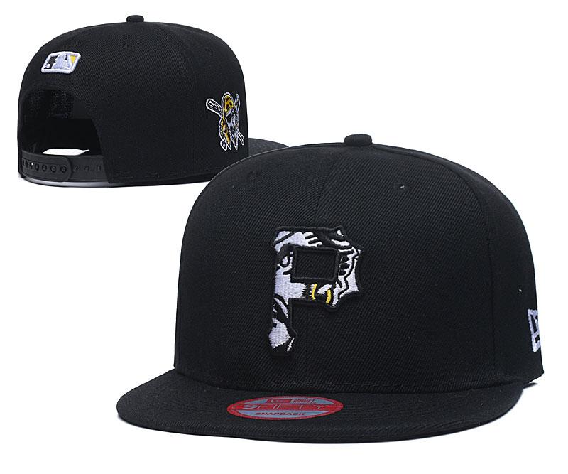Pirates Team Logo Black Adjustable Hat LT