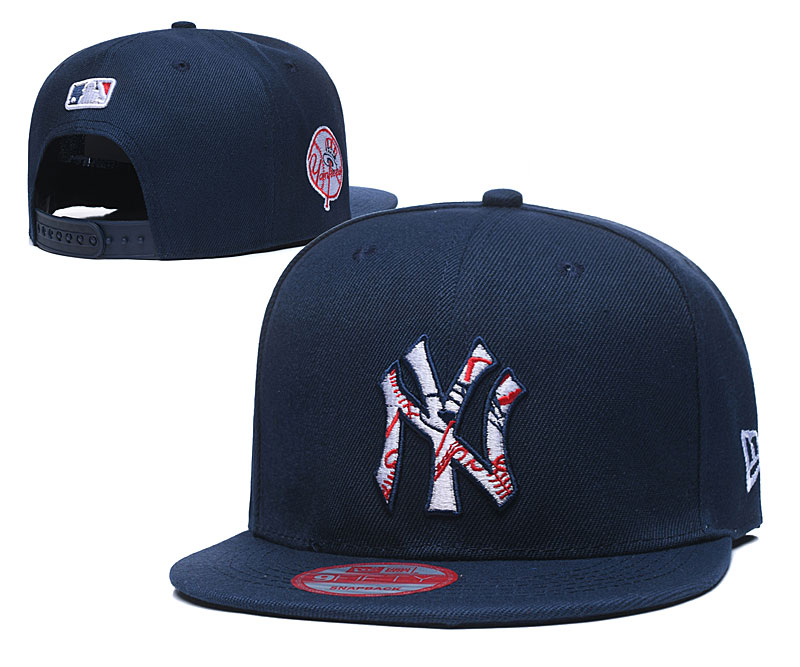 Yankees Team Logo Navy Adjustable Hat LT