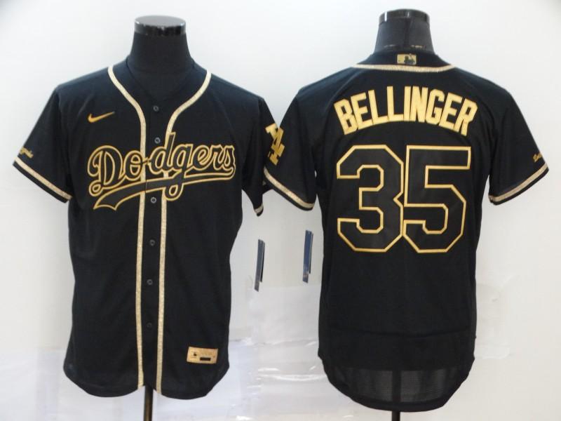Dodgers 35 Cody Bellinger Black Gold 2020 Nike Flexbase Jersey