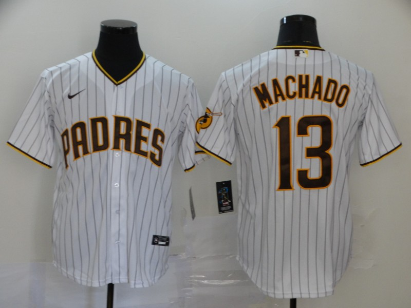 Padres 13 Manny Machado White Nike 2020 Cool Base Jersey