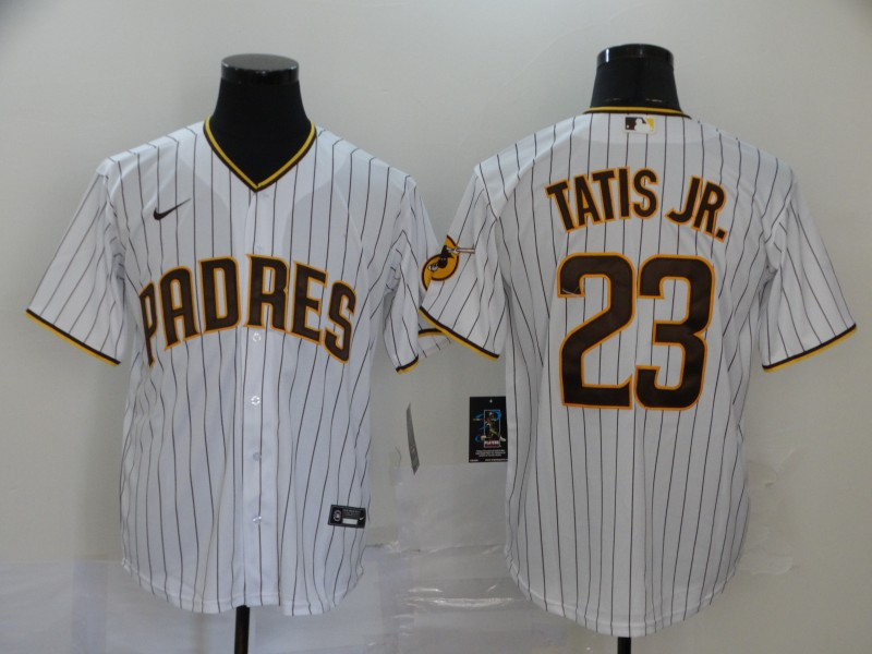 Padres 23 Fernando Tatis Jr. White Nike 2020 Cool Base Jersey
