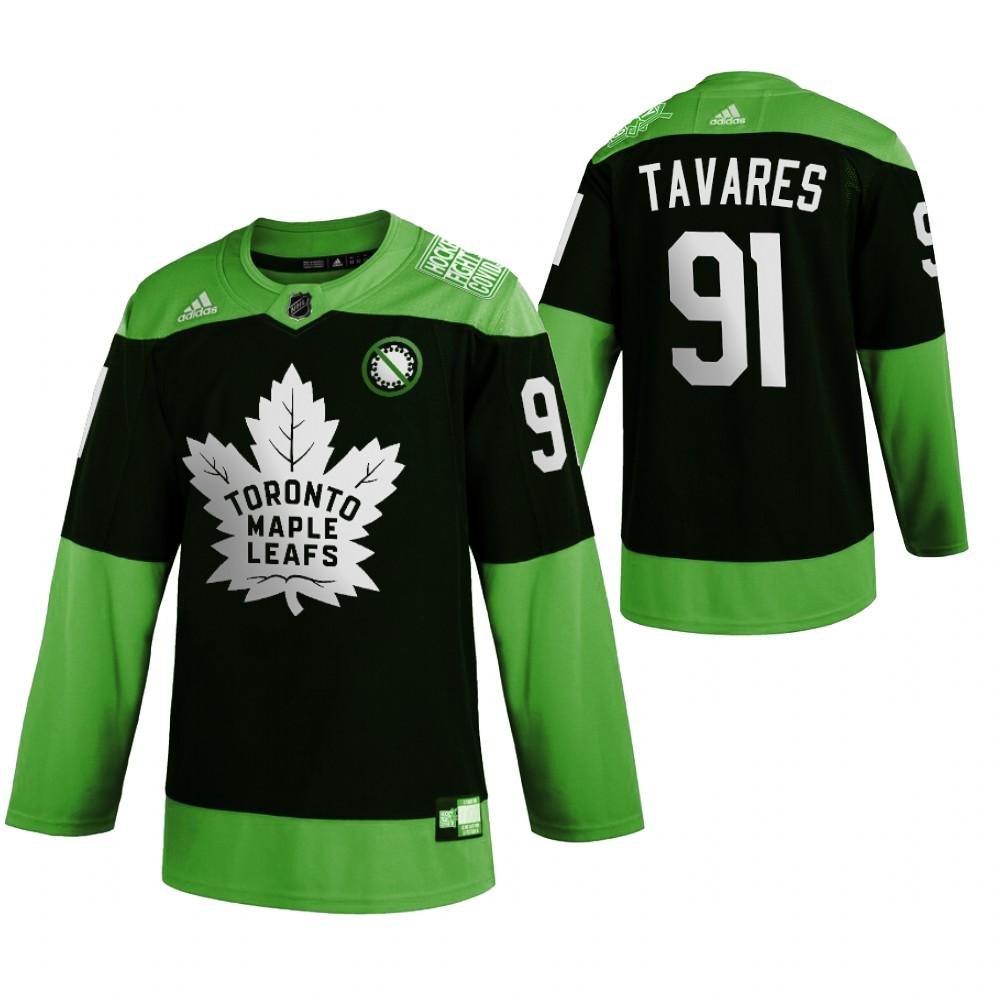 Maple Leafs 91 John Tavares Green 2020 Adidas Jersey