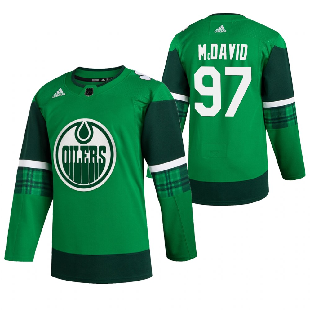 Oilers 97 Connor McDavid Green 2020 Adidas Jersey