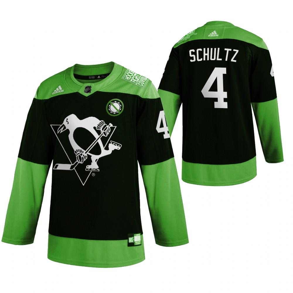 Penguins 4 Justin Schultz Green 2020 Adidas Jersey