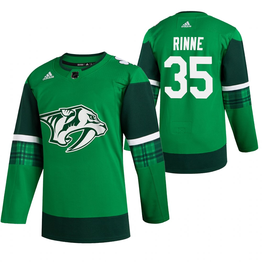 Predators 35 Pekka Rinne Green 2020 Adidas Jersey