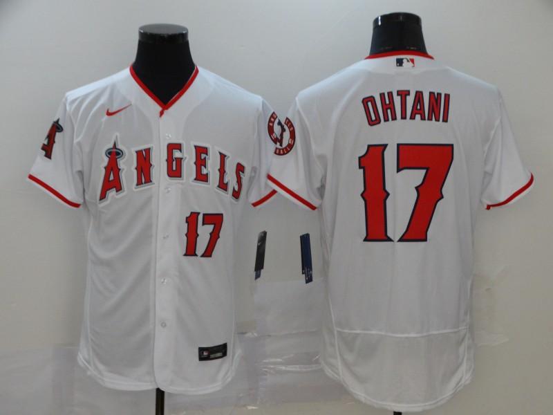 Angels 17 Shohei Ohtani White 2020 Nike Flexbase Jersey