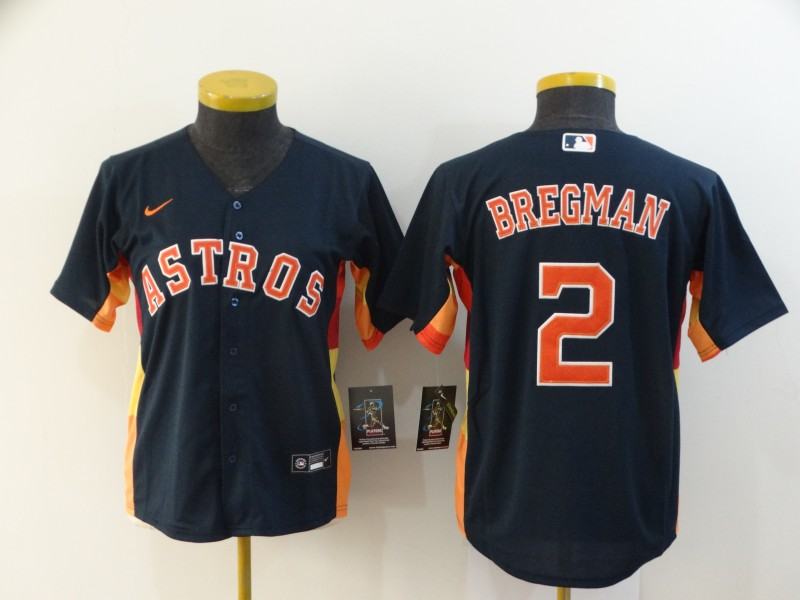 Astros 2 Alex Bregman Navy Women 2020 Nike Cool Base Jersey