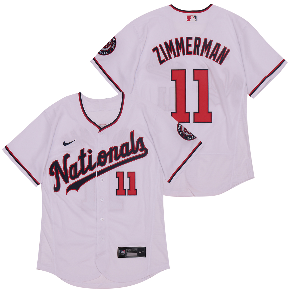 Nationals 11 Ryan Zimmerman White Nike 2020 Flexbase Jersey