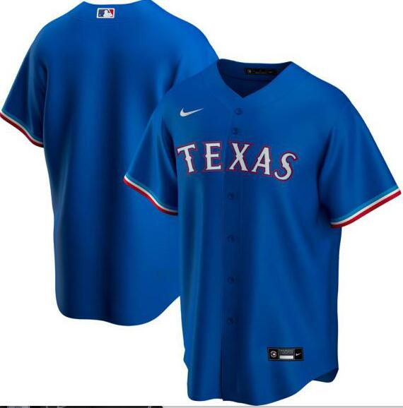 Rangers Blank Royal 2020 Nike Cool Base Jersey