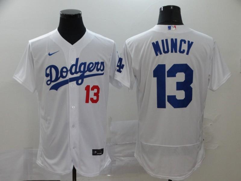 Dodgers 13 Max Muncy White 2020 Nike Flexbase Jersey