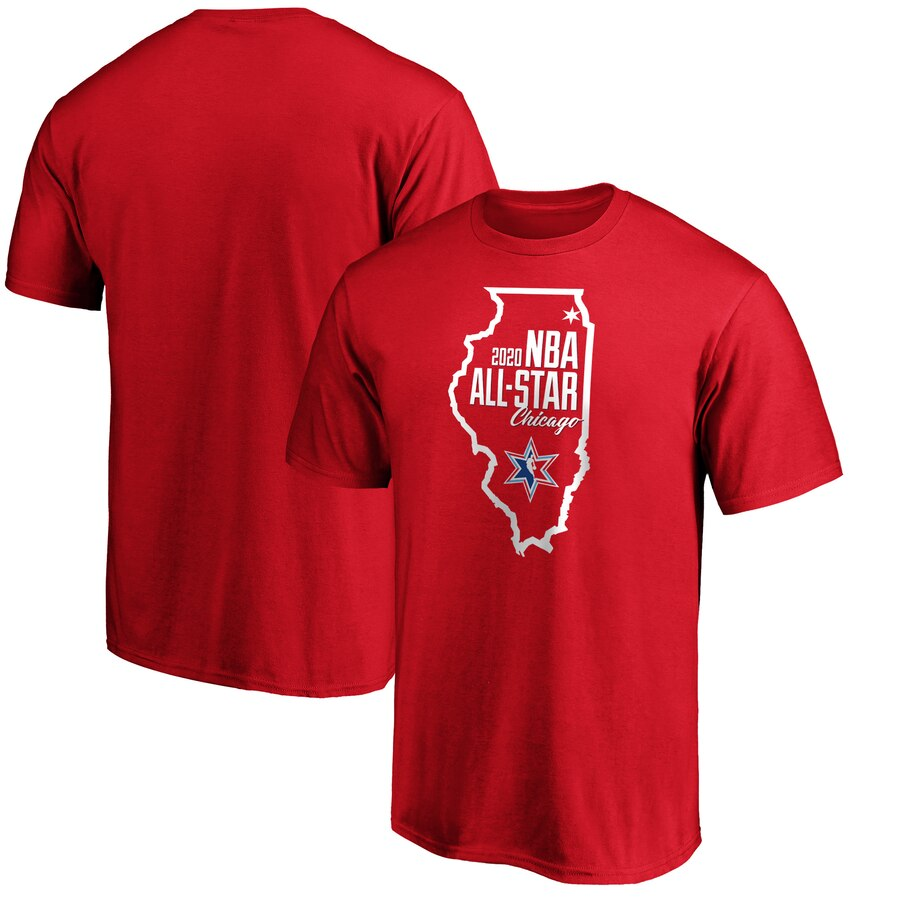 Fanatics Branded 2020 NBA All-Star Game Highlight Dunk T-Shirt Red