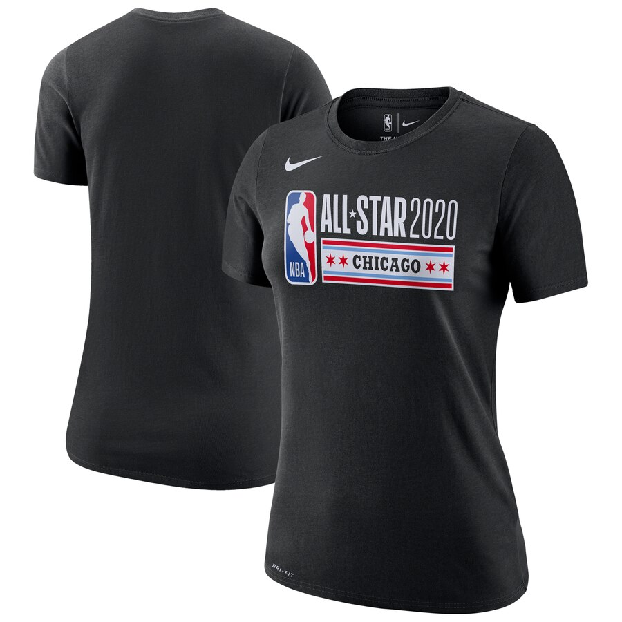 Nike Women's 2020 NBA All-Star Game Primary Logo T-Shirt Black