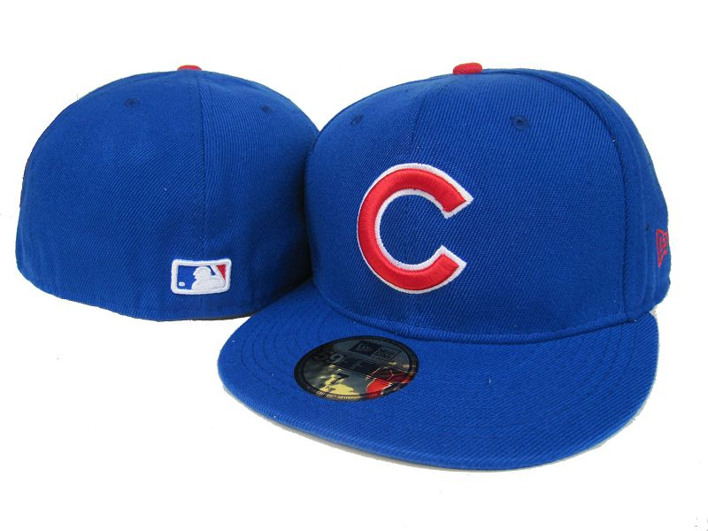 Cubs Team Logo Royal Fitted Hat LX