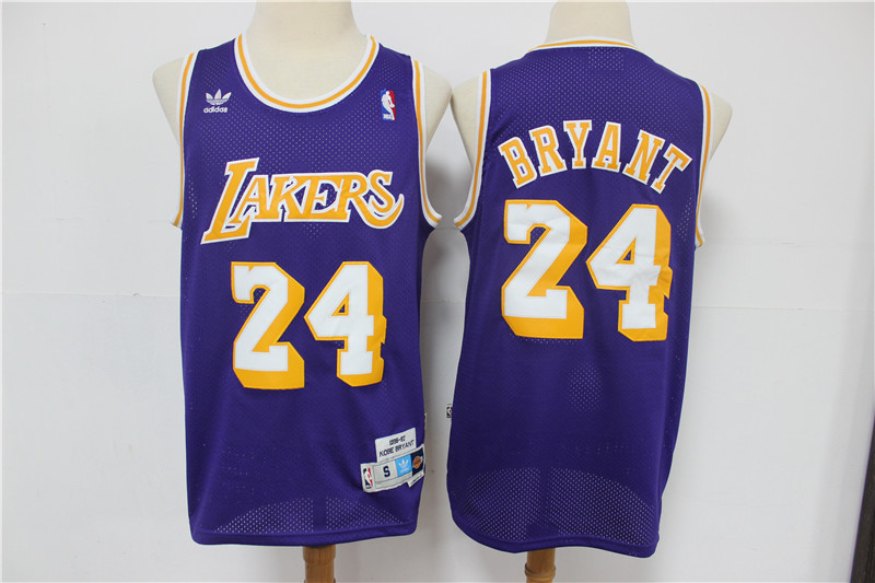 Lakers 24 Kobe Bryant Purple Adidas Swingman Jersey