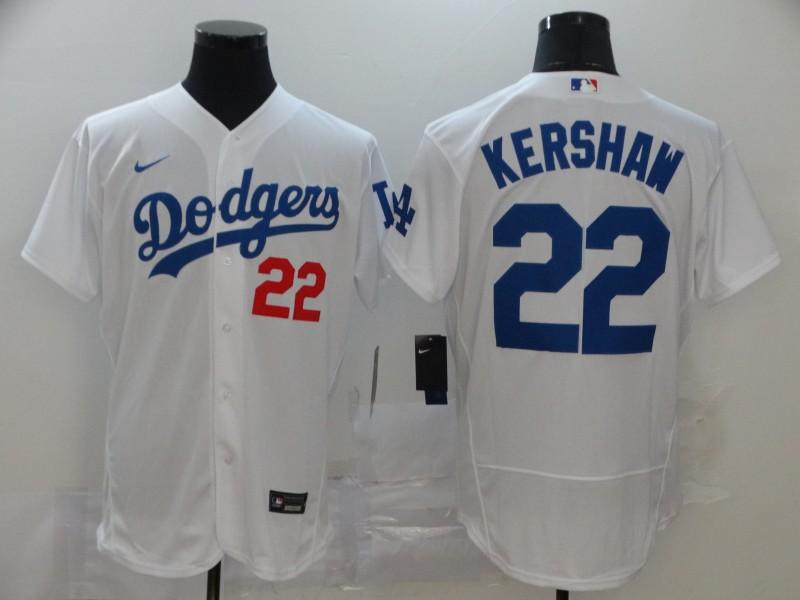 Dodgers 22 Clayton Kershaw White 2020 Nike Flexbase Jersey