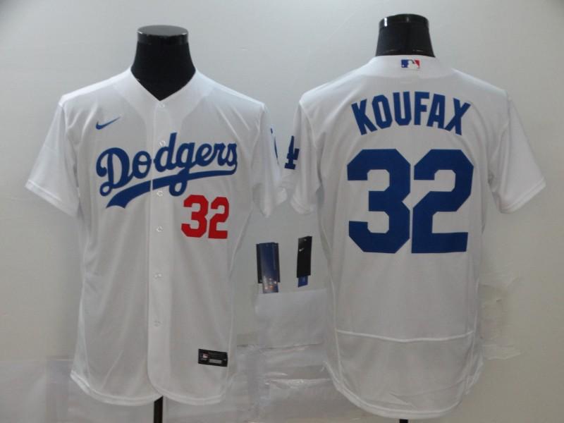 Dodgers 32 Sandy Koufax White 2020 Nike Flexbase Jersey