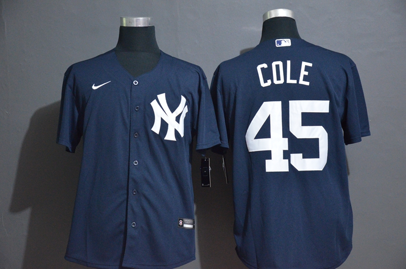 Yankees 45 Gerrit Cole Navy 2020 Nike Cool Base Jersey