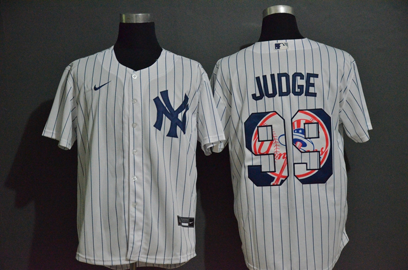 Yankees 99 Aaron Judge White 2020 Nike Cool Base Fashion Jersey