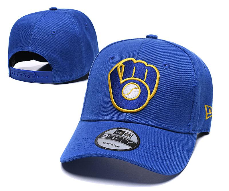 Brewers Team Logo Royal Speak Adjustable Hat TX