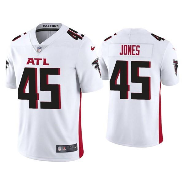 Nike Falcons 45 Deion Jones White New Vapor Untouchable Limited Jersey