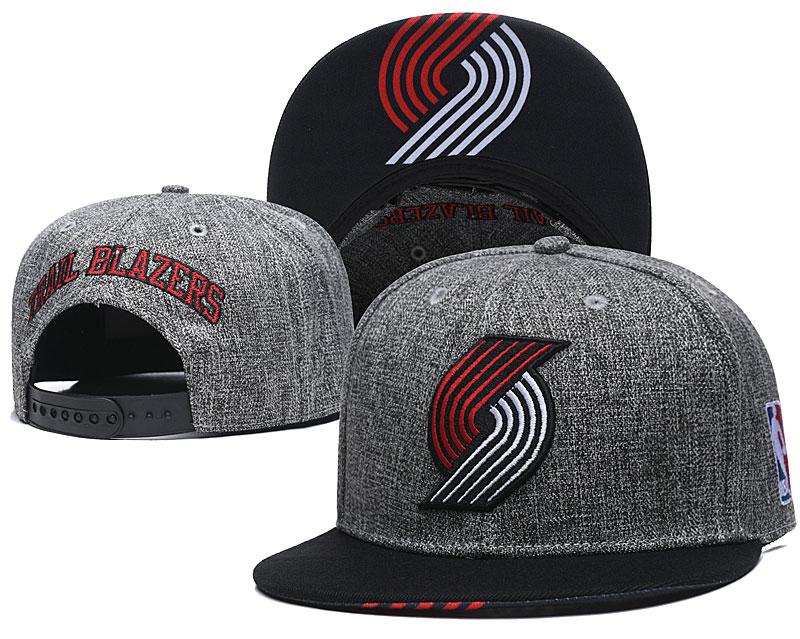 Blazers Team Logo Gray Adjustable Hat TX