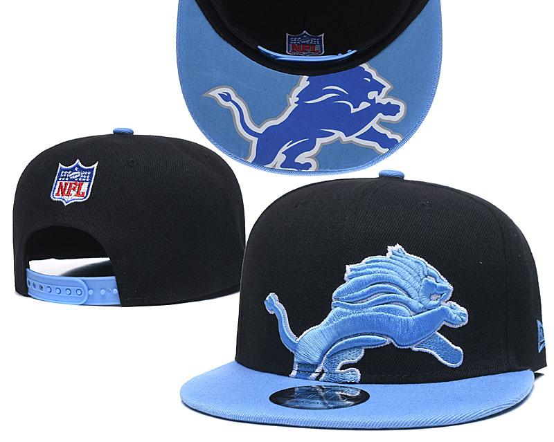 Lions Team Logo Black Blue Adjustable Hat GS