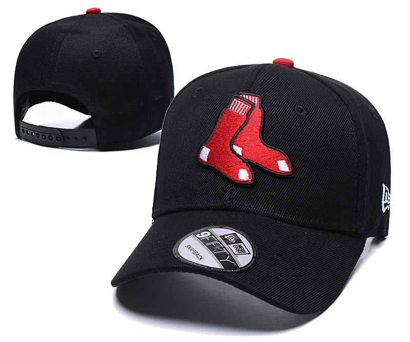 Red Sox Team Logo Black Speak Adjustable Hat TX