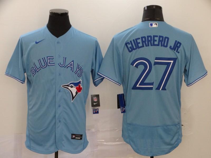 Blue Jays 27 Vladimir Guerrero Jr. Light Blue 2020 Nike Flexbase Jersey