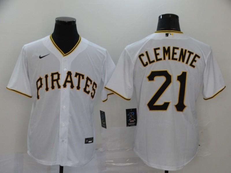 Pirates 21 Roberto Clemente White 2020 Nike Cool Base Jersey