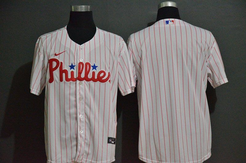 Phillies Blank White 2020 Nike Cool Base Jersey