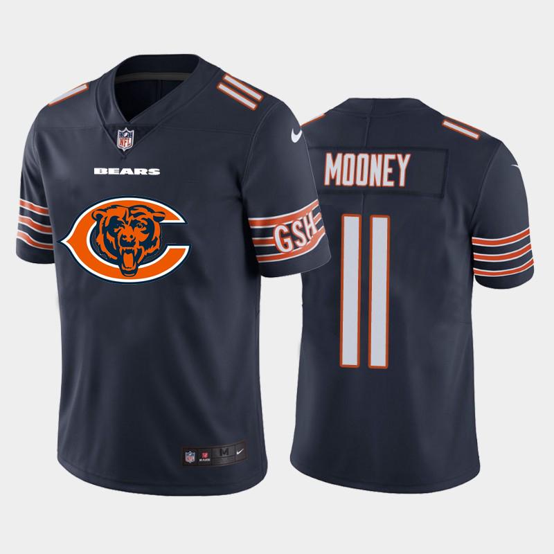 Nike Bears 11 Darnell Mooney Navy Team Big Logo Vapor Untouchable Limited Jersey