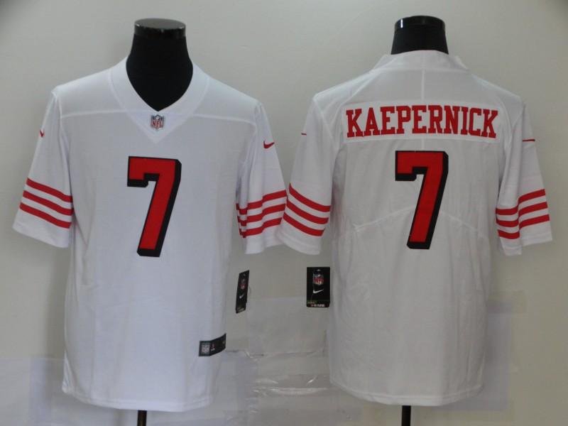 Nike 49ers 7 Colin Kaepernick White Color Rush Vapor Untouchable Limited Jersey