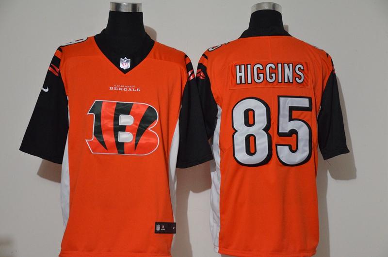 Nike Bengals 85 Tee Higgins Orange Team Big Logo Vapor Untouchable Limited Jersey