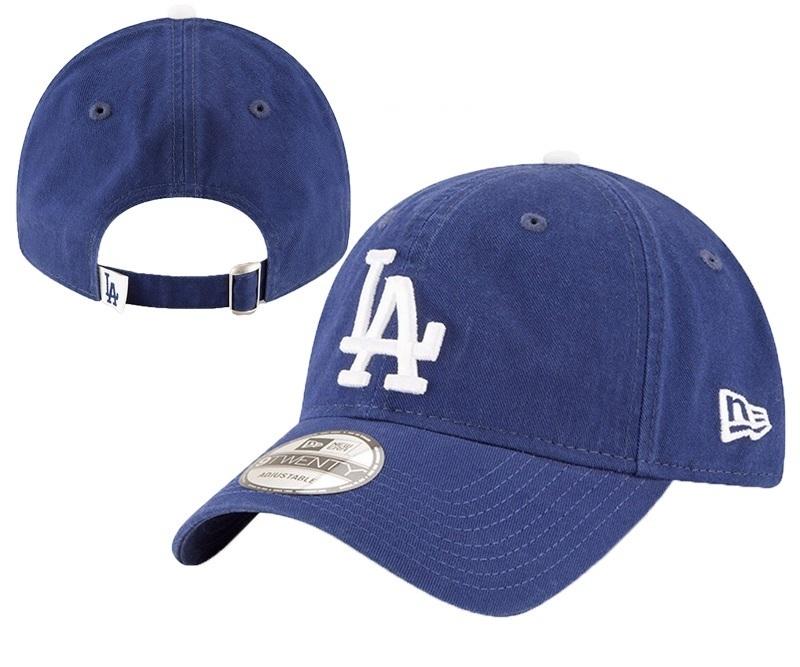Dodgers Team Logo Blue Peaked Adjustable Hat YD