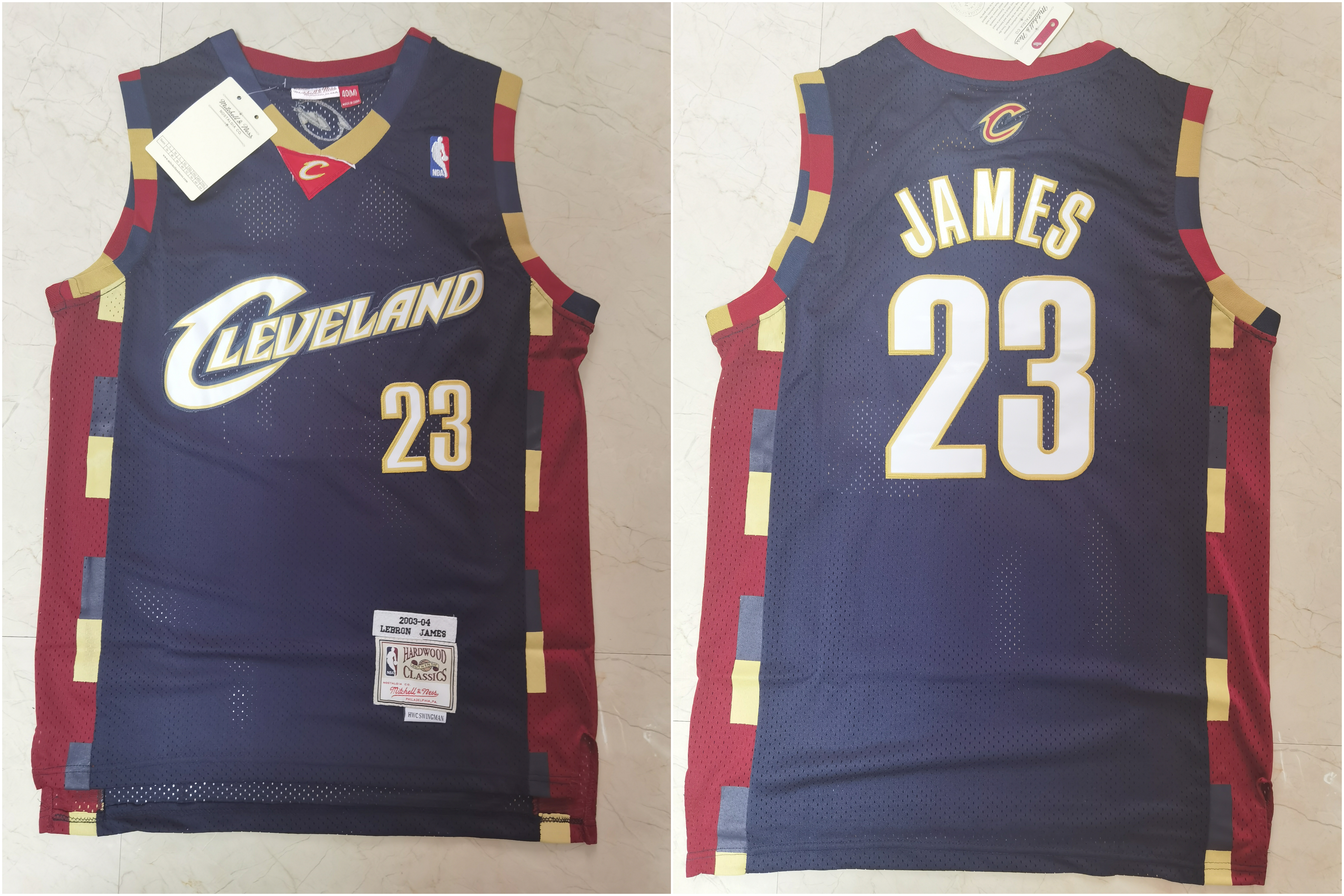 Cavaliers 23 Lebron James Black 2003-04 Hardwood Classics Jersey