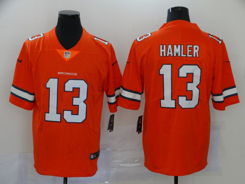 Nike Broncos 13 KJ Hamler Orange 2020 NFL Draft Color Rush Limited Jersey