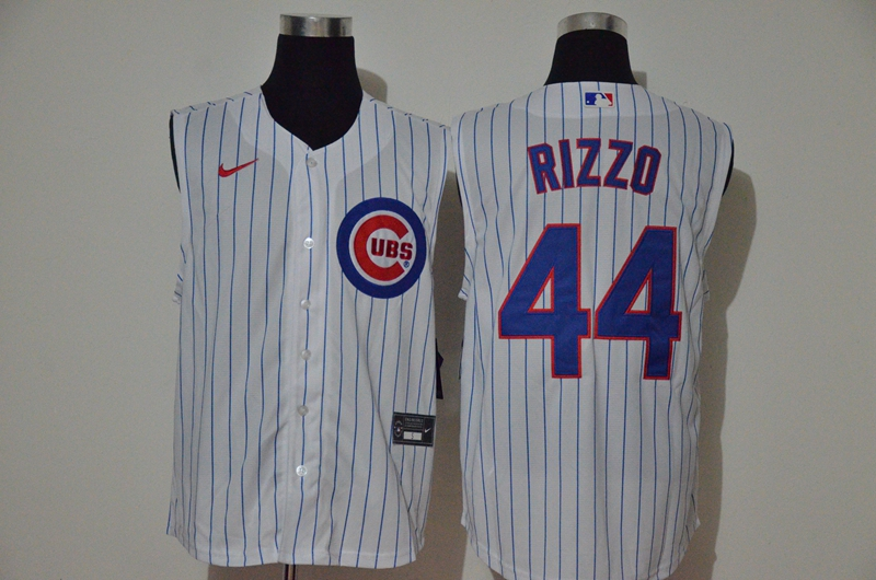 Cubs 44 Anthony Rizzo White Nike Cool Base Sleeveless Jersey