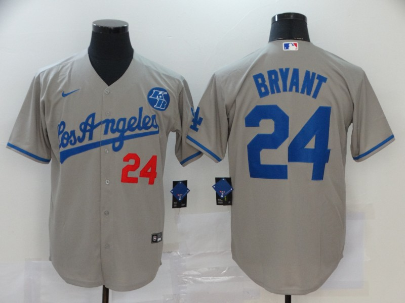 Dodgers 24 Kobe Bryant Gray 2020 Nike KB Cool Base Jersey