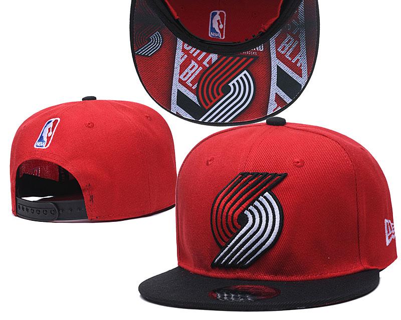 Blazers Team Logo Red Black Adjustable Hat TX