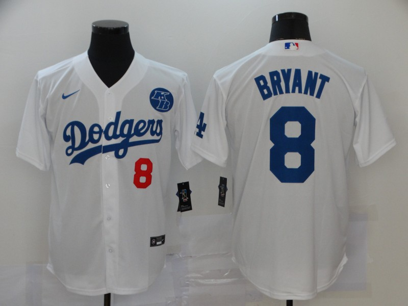 Dodgers 8 Kobe Bryant White 2020 Nike KB Cool Base Jersey
