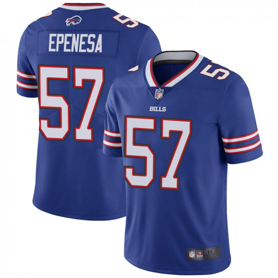 Nike Bills 57 AJ Epenesa Royal 2020 NFL Draft Vapor Untouchable Limited Jersey