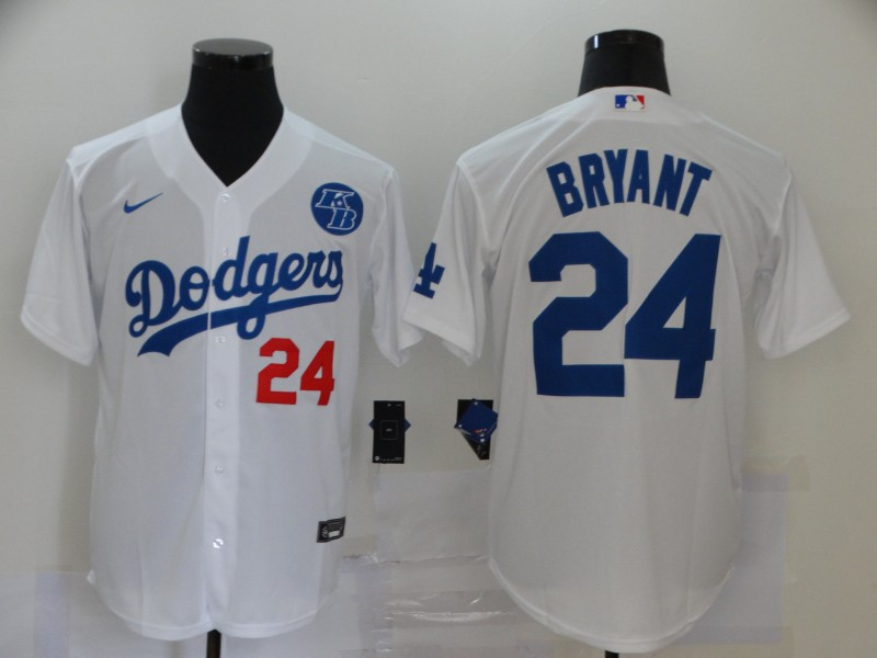 Dodgers 24 Kobe Bryant White 2020 Nike KB Cool Base Jersey