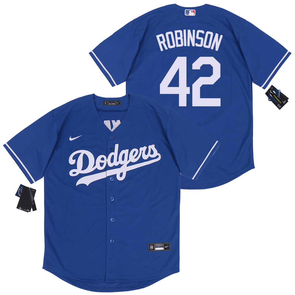 Dodgers 42 Jackie Robinson Royal 2020 Nike Cool Base Jersey