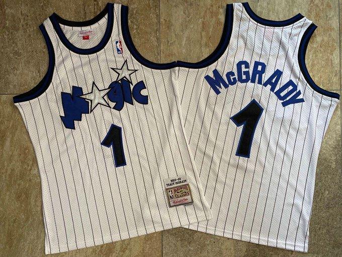 Magic 1 Tracy McGrady White 2003-04 Hardwood Classics Swingman Jersey