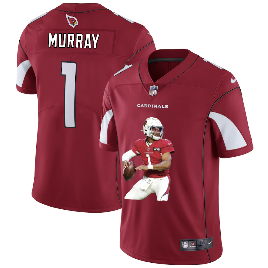 Nike Cardinals 1 Kyler Murray Red Player Name Logo Vapor Untouchable Limited Jersey